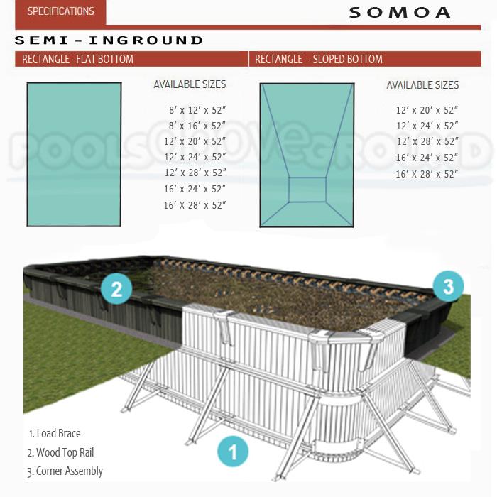 Somoa Wooden Rectangle Pool St Lucie FL