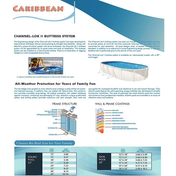 Caribbean above ground pool St Lucie FL